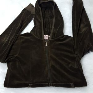 Juicy Couture Velour  Green Hoodie - Size M